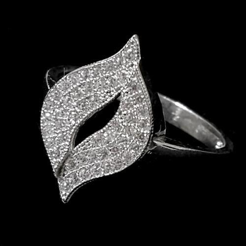 טבעת כסף משובצת זרקונים RG1469 | תכשיטי כסף | טבעות כסף