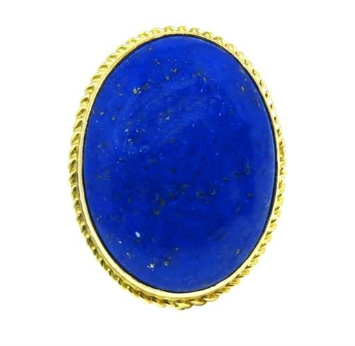 טבעת זהב 14K משובצת אבן לפיס