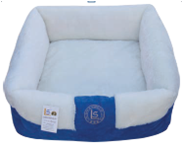 מיטה מלבנית עם פרווה כחול/לבן 17*40*40