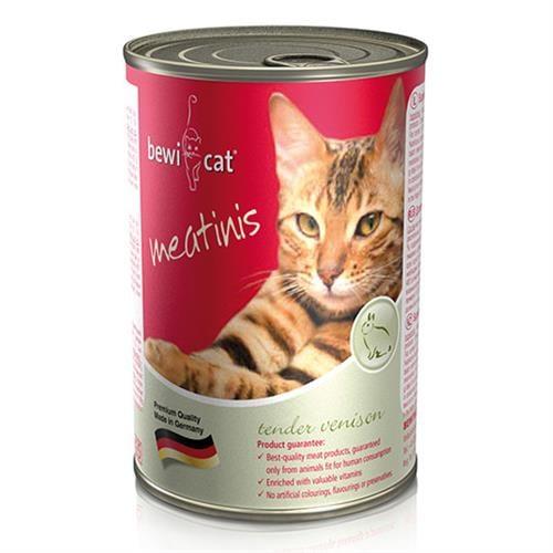 שימורי מזון חתולים Bewi Cat- ארנבת 400 גרם