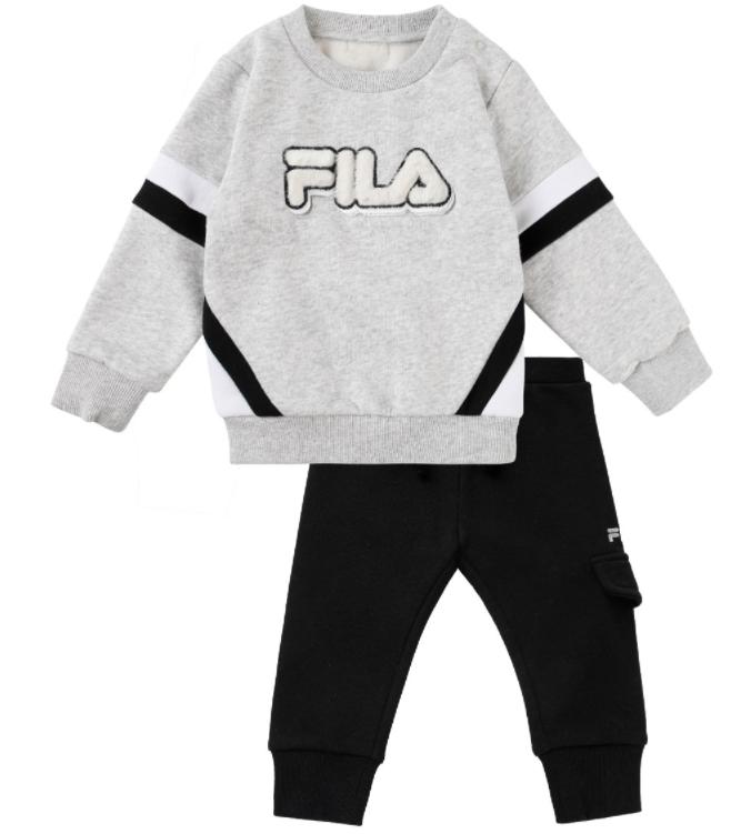חליפת פוטר אפור שחור תינוקות (N.B-18-24)