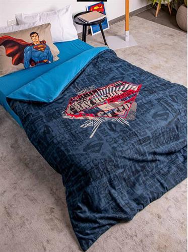 סט של  סופרמן  פלנל של ורדינון יחיד
