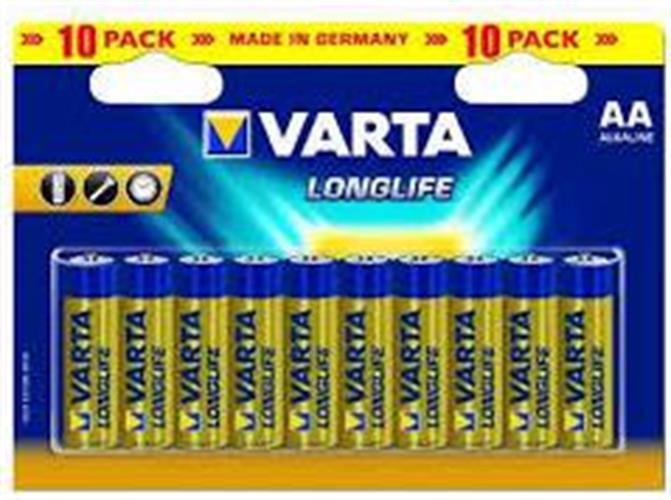 סוללות אלקליין ALKALINE AA VARTA מארז 100 יחידות
