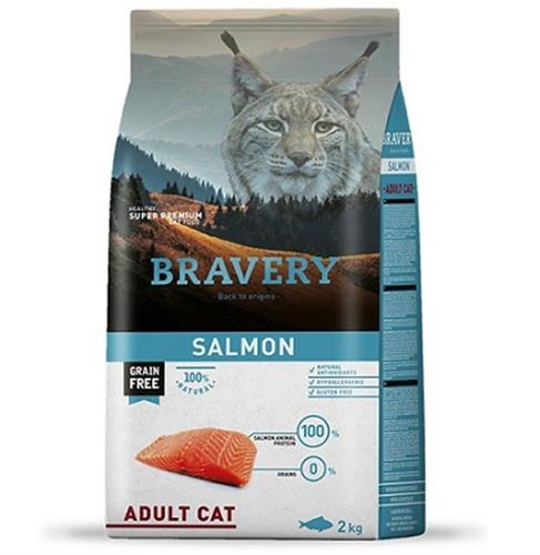 """מזון לחתולים ברוורי סלמון מועשר ללא דגנים 2 ק""""ג"""