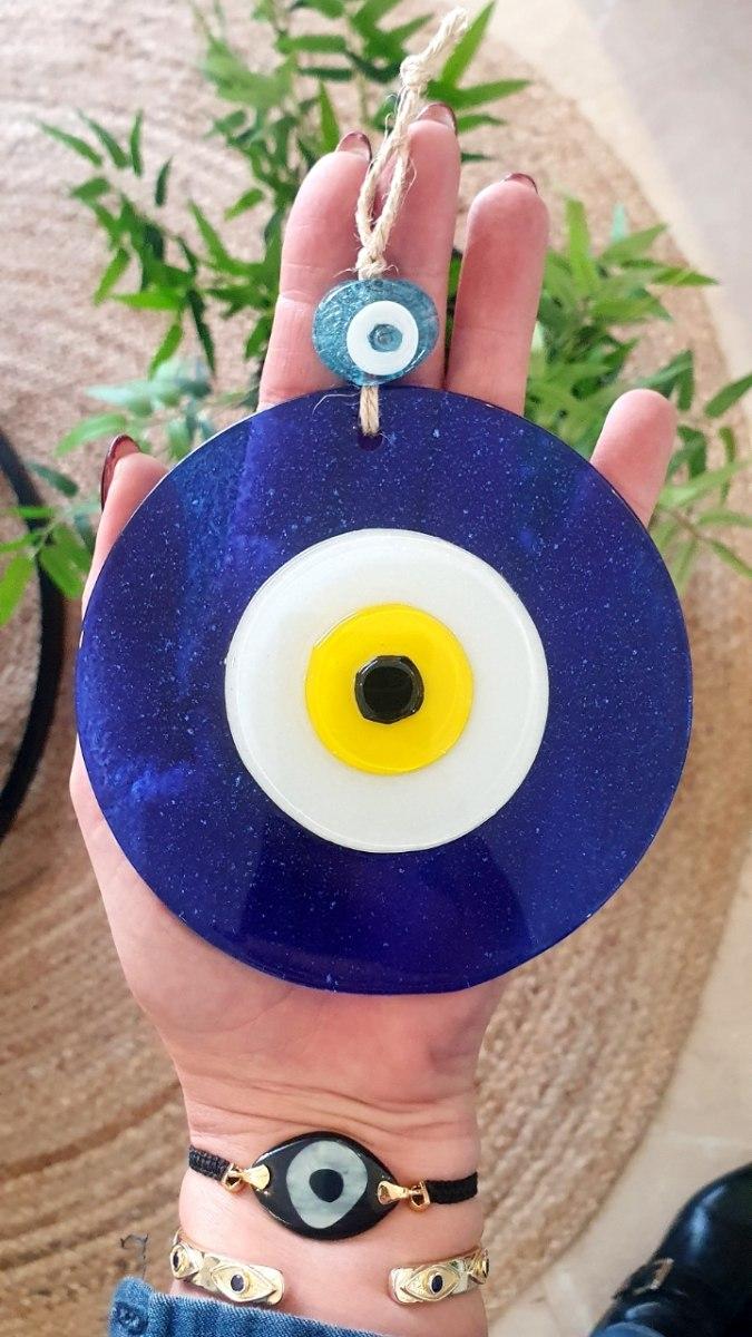 עין כחול/צהוב לתליה