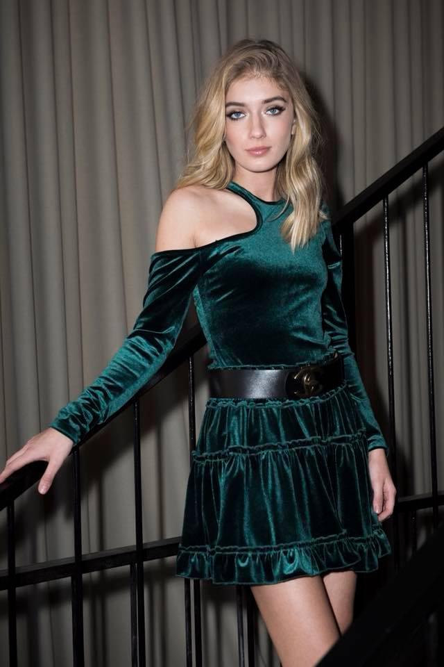 חצאית ולווט dark green