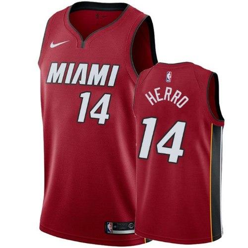 גופיית NBA מיאמי היט אדומה 20/21 - #14 Tyler Herro
