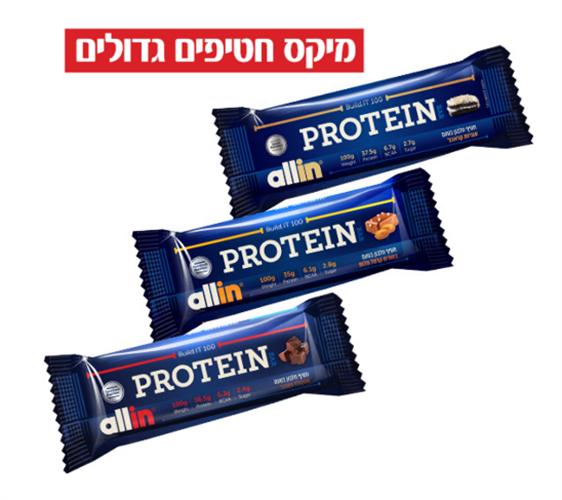 6 יח-אול אין 100   All-in Build.it 100 Protein Bar