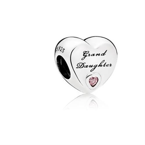 """צ'ארמ כסף לב """"Granddaughter's Love"""" פנדורה 796261PCZ"""
