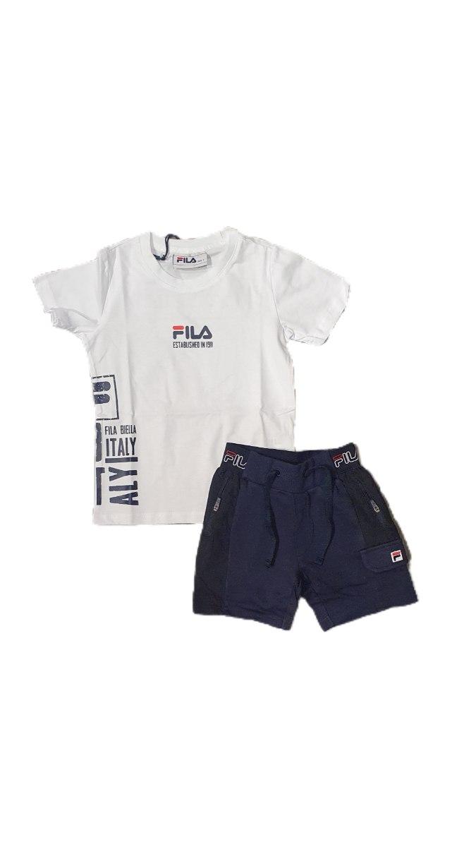 חליפת בנים כחול לבן (2-8) FILA