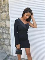 שמלה חד כתף פריז