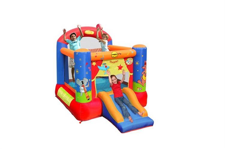מתקן קפיצה תאטרון עם מגלשה הפי הופ - 9304  Theater Slide And Hoop Bouncer Happy Hop