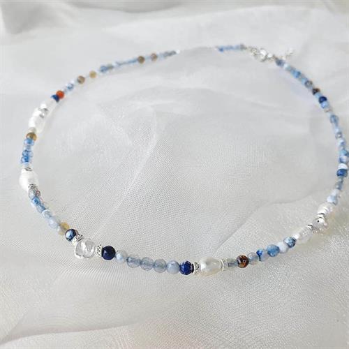 שרשרת רוני- כסף כחול