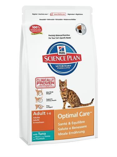 """הילס Science Plan לחתולים בוגרים (טונה), 3 ק""""ג"""