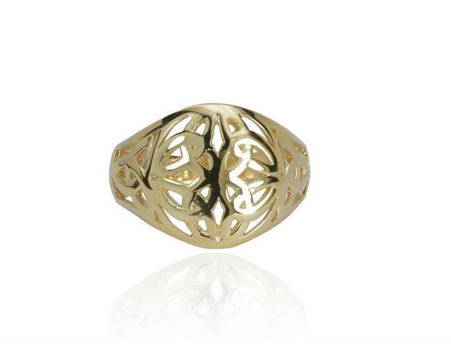 טבעת השילוש הקלטית עשויה בזהב 14 קרט