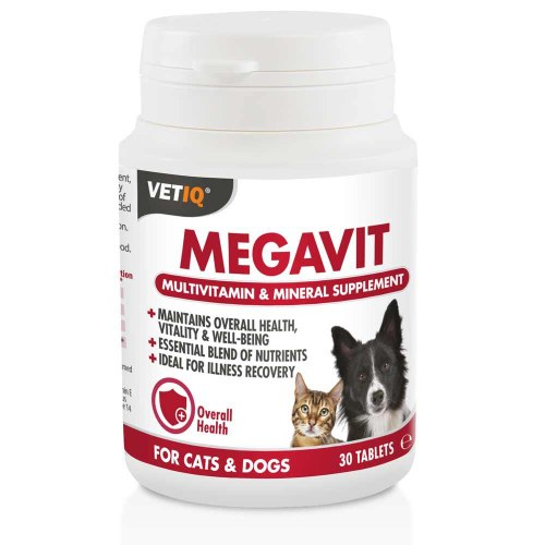 MEGAVIT - מולטי ויטמין ומינרלים לחתול ולכלב