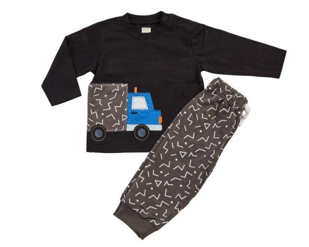 חליפת מעבר משאית שחור מכנס פרנצ׳ טרי
