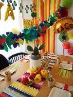 עיצוב שולחן מקסיקני קישוטים ואביזרים למסיבה או יום הולדת חגיגה מקסיקנית