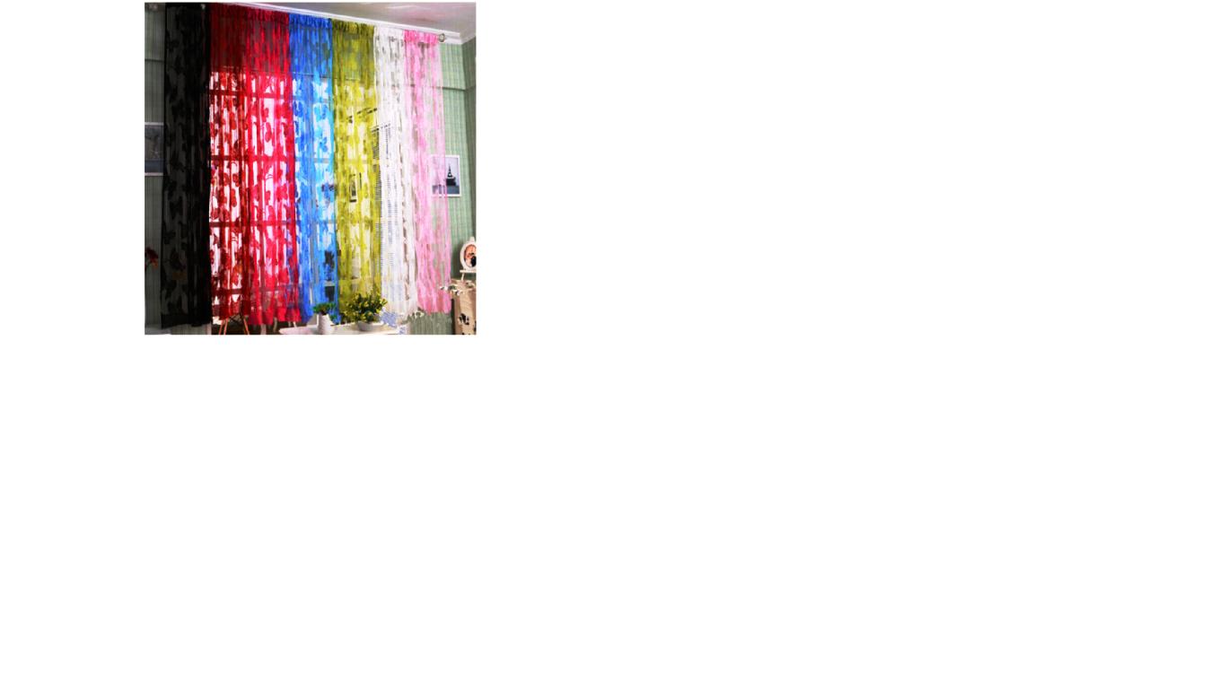 וילון פרפרים קצר לחדרי ילדים ( כנף אחת )