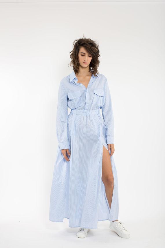שמלת נלי תכלת