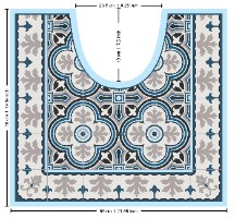 עיצוב איזור האסלה – מדבקה (39 ₪) שטיחון (88 ₪) סט (119 ₪) אחוזת בית TIVA DESIGN