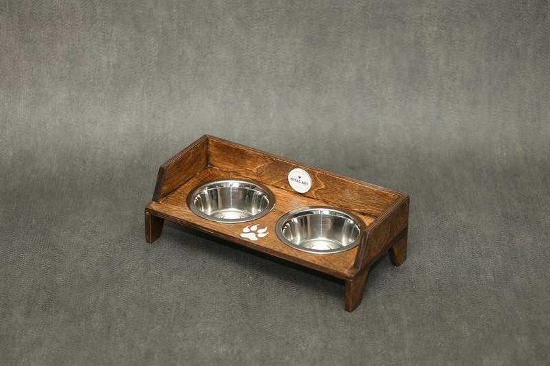 כלי אוכל ומים לחתול- שוליקה XS-S חום