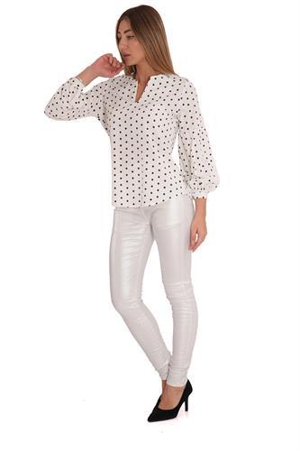 חולצה אולידיי נקודות לבן