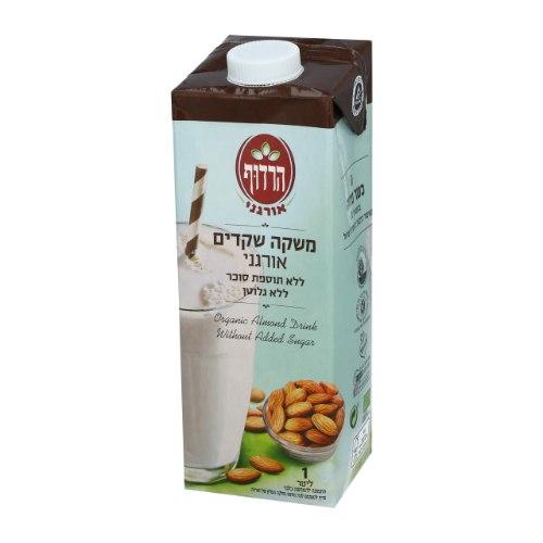 משקה שקדים אורגני ללא תוספת סוכר וללא גלוטן הרדוף - 1 ליטר