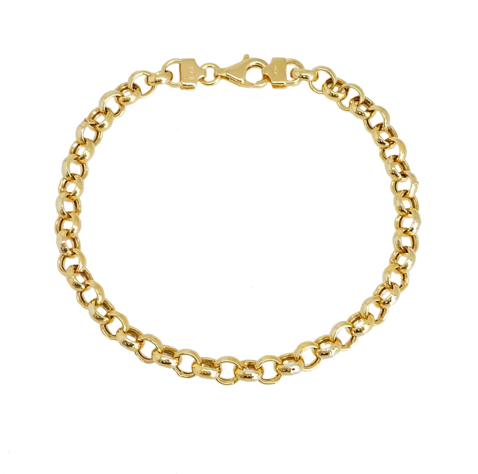 צמיד זהב חוליות לאישה מזהב 14 קאראט