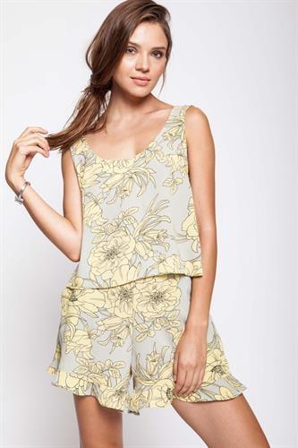 חליפת הולידיי פרחוני צהובה