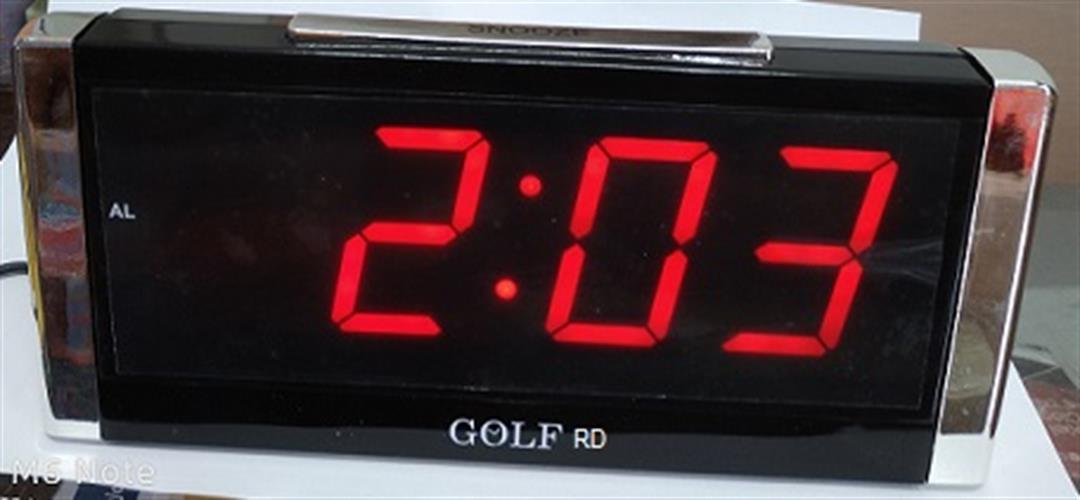 שעון מעורר חשמלי גולף GOLF אדום