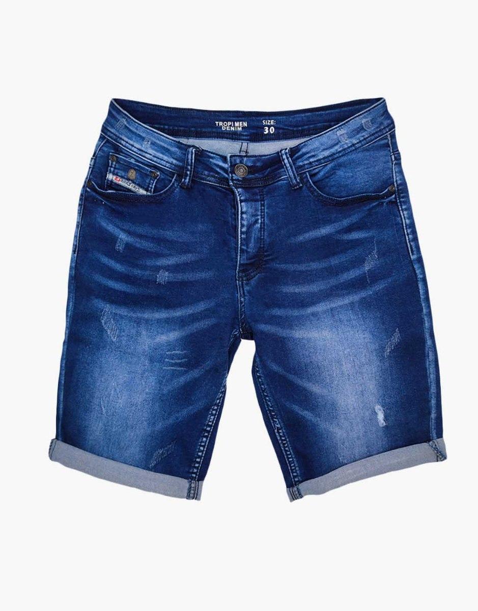 ג'ינס קצר כיתוב בכיס