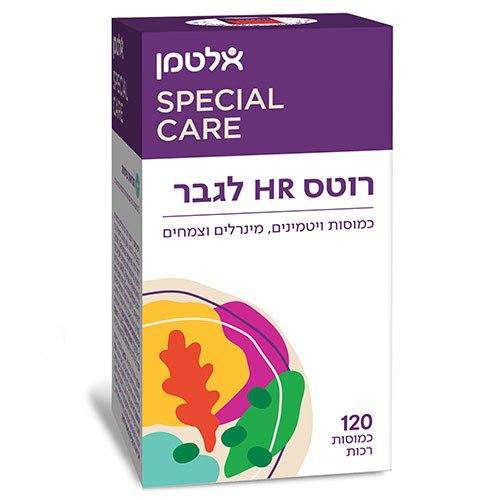רוטס HR לגבר - כמוסות ויטמינים, מינרלים וצמחים, 120 כמוסות רכות, אלטמן