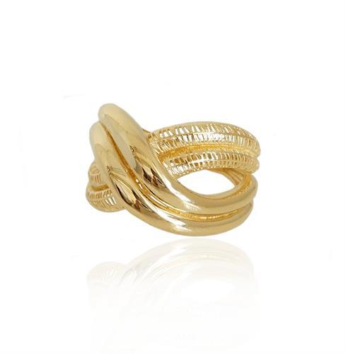 טבעת זהב לאשה | טבעת רחבה מזהב לאשה