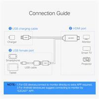 חיבור סמארטפון דרך כבל HDMI