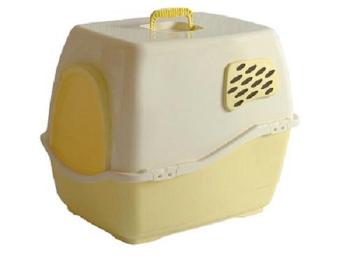 שירותים לחתול ביל 1 צהוב עם מסנן