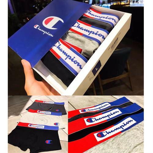 תחתונים לגברים מותג צ'מפיון אריזה של שלושה זוגות שלושה צבעים קבועים