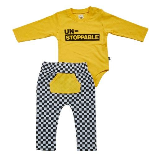 חליפת מעבר מרוצים צהוב