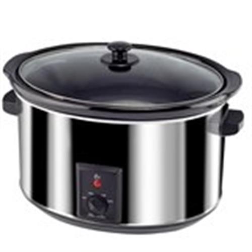 סיר בישול איטי 8 ליטר נירוסטה זקש EFSC800