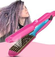 מחליק טוסטר לשיער זיגזג ומלא נפח