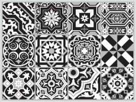 פלייסמט  מבודד חום לשולחן אקלקטי שחור לבן  TIVA DESIGN