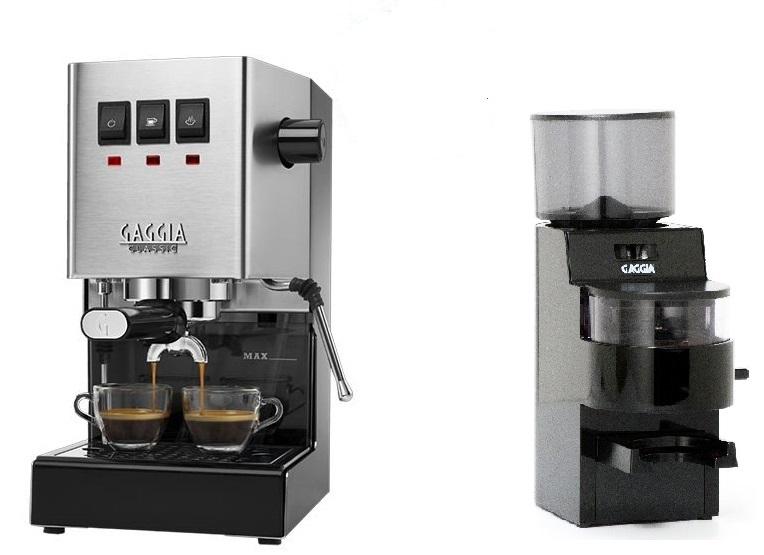 מכונת קפה גאגיה קלאסיק פרו 2020 Gaggia Classic Pro + מטחנת קפה מקצועית גאג'יה 50 ממ - Gaggia MDF