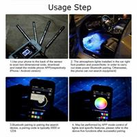 """סט 9 נורות לד צבעוניות לפנים הרכב - נשלט ע""""י אפליקציה"""