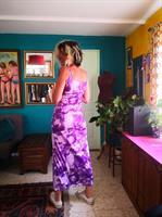שמלת לייקרה מקסי פרחונית מס' 4 מידה S/M