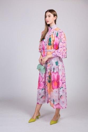שמלת שיפון אשלי פרחים NEW 2021