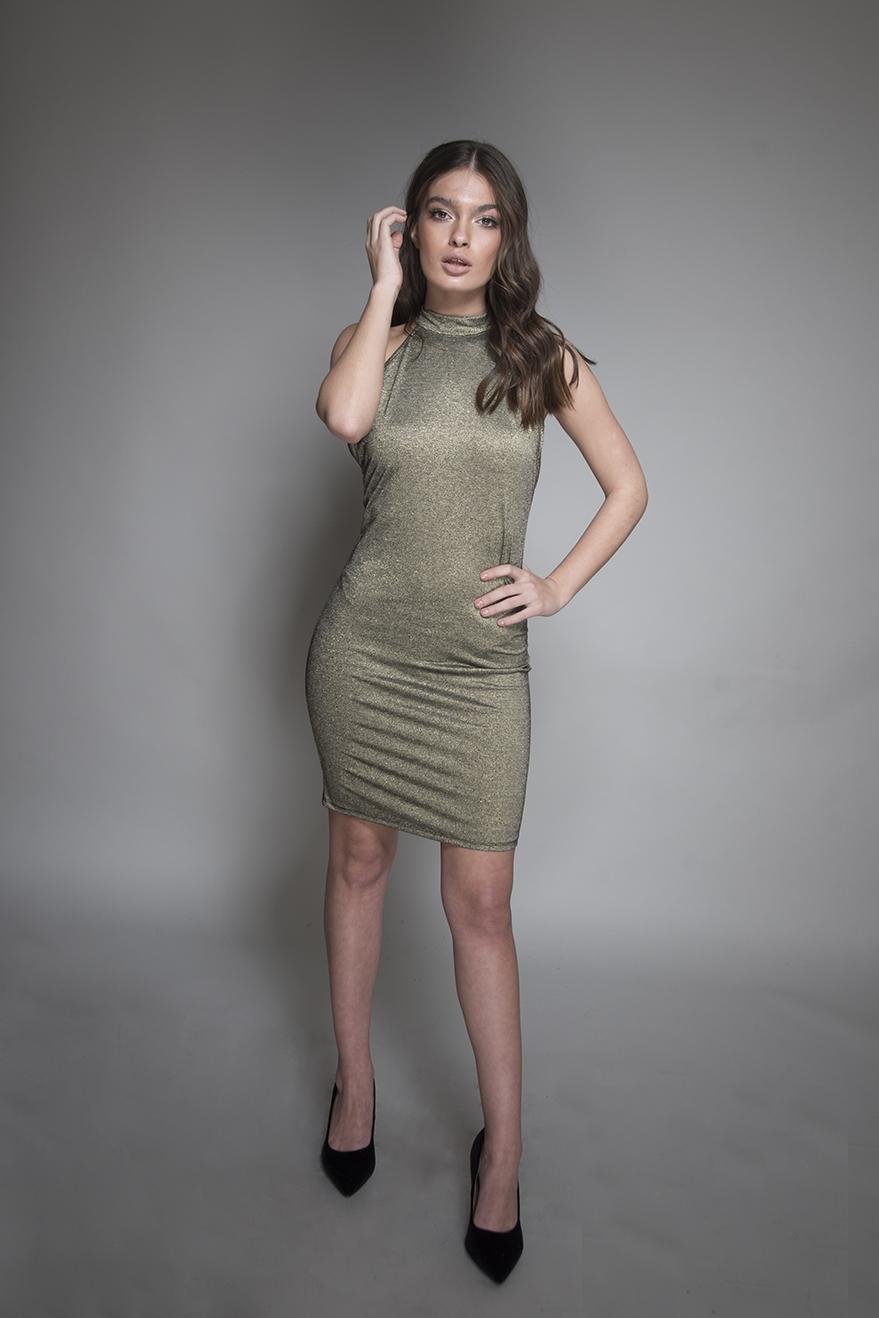 שמלה בריטני זהב שחור