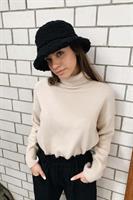 כובע באקט צמר פלאפי