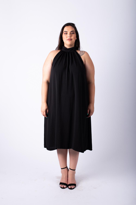 שמלת אליס קצרה שחורה