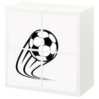4 יח' טפט להדבקה על דלת כוורת (KALLAX)- איור כדורגל