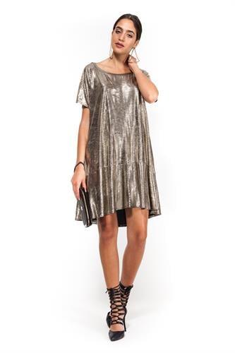 שמלת עלמה זהב לורקס
